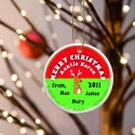 GC425 Reindeer Red Merry Christmas Ornament
