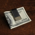Personalized Gentry Leather Money Clip