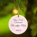 GC666 Baby Girl's First Christmas Ornament - Style 1