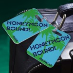 Personalized Honeymoon Bound Luggage Tags