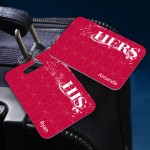 Personalized His and Hers Luggage Tags