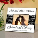Mr. and Mrs. Personalized Wedding Frame - Black and White