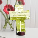 Personalized First Communion Cross - Delicate Daisy First Communion Cross