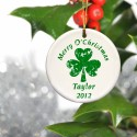 Personalized Irish Ornaments - GC848 Christmas and Clover Ornament