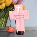 Personalized Baptismal Cross - Hear My Prayer - Pink
