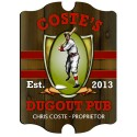 Vintage Personalized Dugout Pub Sign