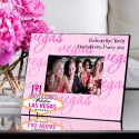 Personalized Gals Las Vegas Picture Frame - Vegas Pink Sign Frame