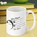 Personalized Teacher Coffee Mugs - Bass Clef Teacher Coffee Mug