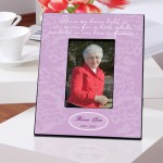 Personalized Lavender In Our Hearts Memorial Picture Frame