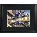 Personalized NFL Pub Sign with Wood Frame - Minnesota Vikings