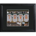 Personalized MLB Clubhouse Print with Matted Frame - Baltimore Orioles