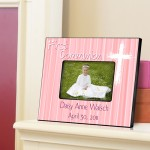 Personalized First Communion Picture Frame - The Light of God - Pink
