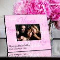 Personalized Gals Las Vegas Picture Frame - Vegas Pink Script Frame