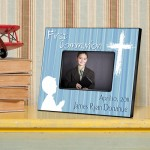 Personalized First Communion Picture Frame - Hear My Prayer - Blue