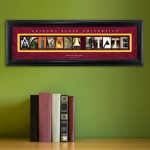 Collegiate Framed Architecture Print in Wood Frame - Arizona State University