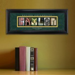 Collegiate Framed Architecture Print in Wood Frame - Baylor University