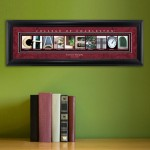 Collegiate Framed Architecture Print in Wood Frame - College of Charleston
