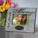 Gray Elegance Forever Friends Picture Frame