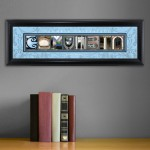 Collegiate Framed Architecture Print in Wood Frame - Columbia University