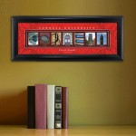 Collegiate Framed Architecture Print in Wood Frame - Cornell University