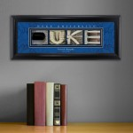 Collegiate Framed Architecture Print in Wood Frame - Duke University
