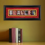 Collegiate Framed Architecture Print in Wood Frame - Flagler
