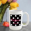 Personalized Polka Dots Coffee Mug - Onyx Polka Dot Coffee Mug