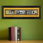 Collegiate Framed Architecture Print in Wood Frame - Georgia Tech