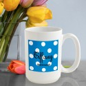 Personalized Polka Dots Coffee Mug - Sapphire Polka Dot Coffee Mug