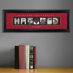 Collegiate Framed Architecture Print in Wood Frame - Harvard