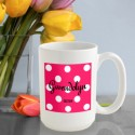 Personalized Polka Dots Coffee Mug - Tutti Frutti Polka Dot Coffee Mug