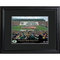 Personalized NFL Stadium Print with Wood Frame - Green Bay Packers