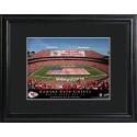 Personalized NFL Stadium Print with Wood Frame - Kansas City Chiefs