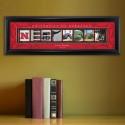 Collegiate Framed Architecture Print in Wood Frame - University of Nebraska