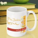 Personalized Teacher Coffee Mugs - Sunshine & Flowers Teacher Coffee Mug
