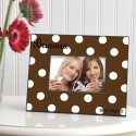 Personalized Polka Dots Picture Frame - Cocoa Polka Dot Frame