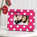 Personalized Polka Dots Picture Frame - Tutti Frutti Polka Dot Frame
