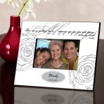 Personalized White Always Memorial Picture Frame