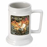 Personalized 16 oz. German Beer Stein - Fishing Guide