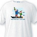 Personalized Dad T Shirt - Best Dad Ever