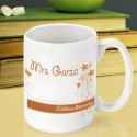 Personalized Teacher Coffee Mugs - Breath of Spring Teacher Coffee Mug