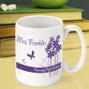 Personalized Teacher Coffee Mugs - Bloomin' Butterfly Teacher Coffee Mug