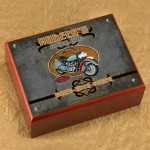 Personalized Cigar Humidor - Biker Bar Humidor
