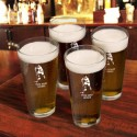 Personalized Set of 4 Sports Icon Pint Glasses  - Hockey