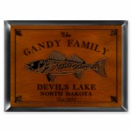 """Cabin"" Series Traditional Signs - Walleye Cabin Sign"