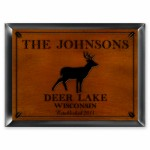 """Cabin"" Series Traditional Signs - Stag Cabin Sign"