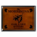 """""""Cabin"""" Series Traditional Signs - White Oak Cabin Sign"""