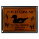 """Cabin"" Series Traditional Signs - Wood Duck Cabin Sign"