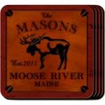 Cabin Series Coaster Set - Moose Coaster Set