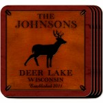 Cabin Series Coaster Set - Stag Coaster Set
